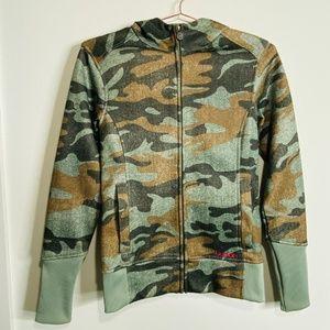 Burton Camo Zip-Up DryRide Fleece Lined Sweatshirt